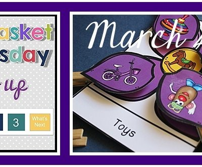 Workbasket Wednesday Linkup TEACCH Boxes for Spring