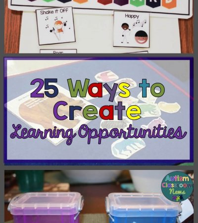 25 Ways to Create Learning Opportunities with incidental teaching free download from Autism Classroom Resources