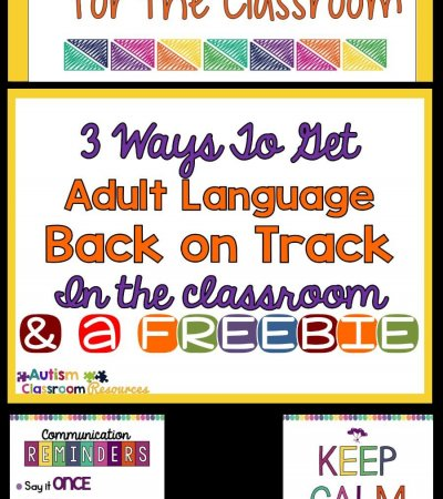 3 Ways to Get Adult Language Back on Track in the Classroom Autism Classroom Resources