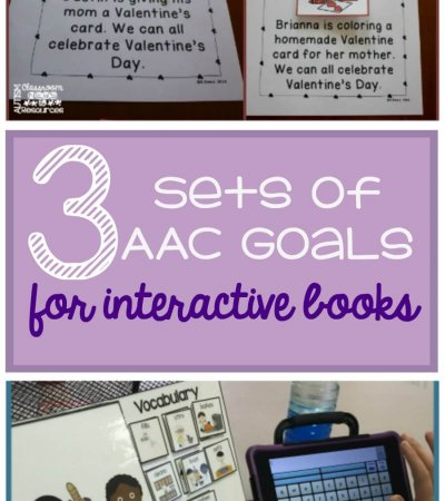 3 sets of AAC goals for interactive books from Autism Classroom Resources