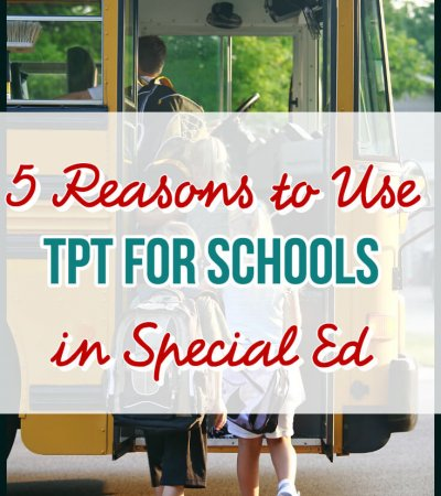 Is your school on TpT? Special education and TpT are a perfect partnership to me. Read on to find out what TpT can do for you and your school!