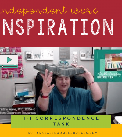 Independent Work Inspiration Baking 1-1 Correspondence Task