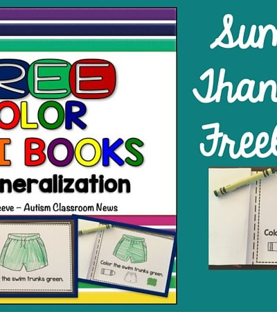Free Color Mini-Book Activities for special education