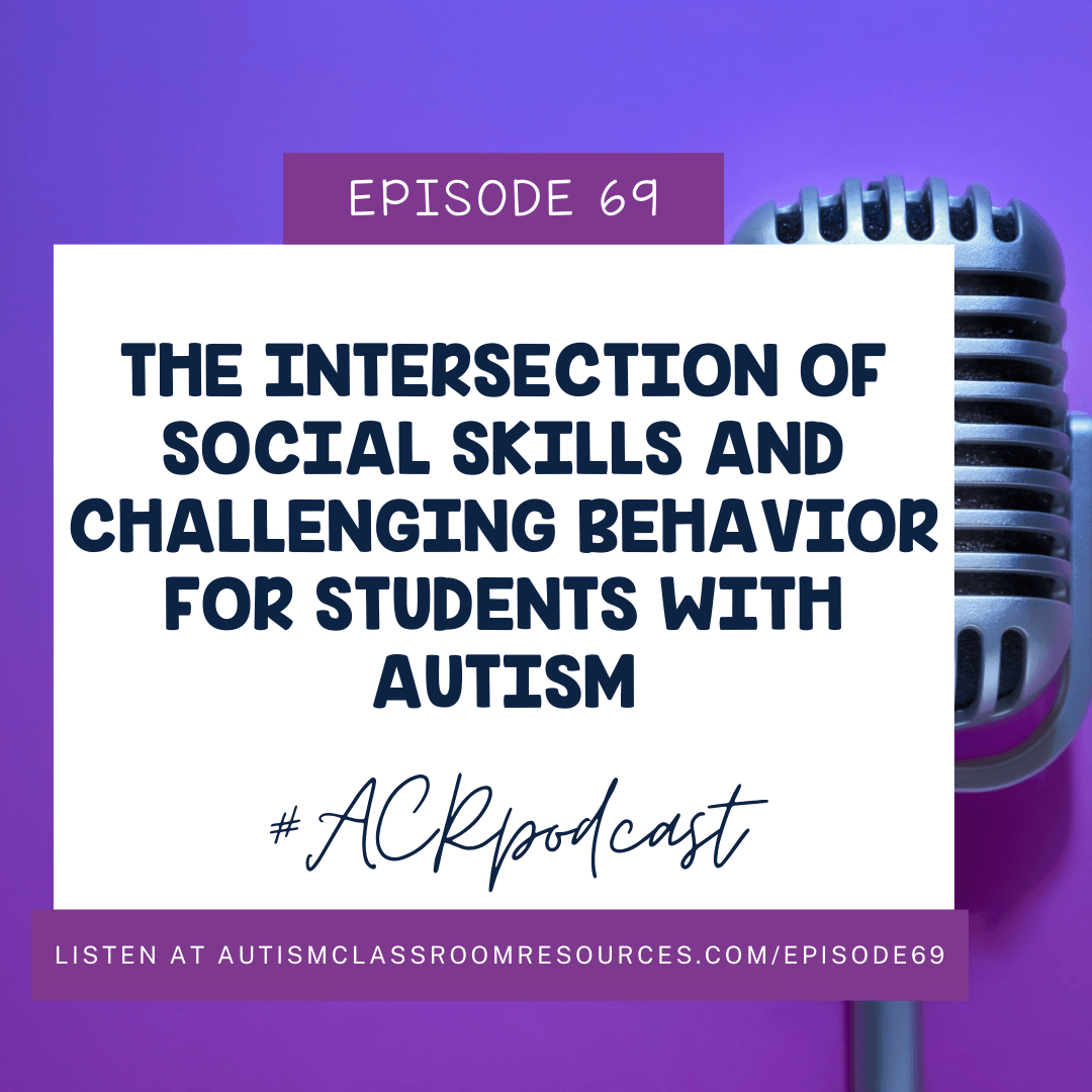 THE INTERSECTION OF SOCIAL SKILLS AND CHALLENGING BEHAVIOR FOR STUDENTS IWTH AUTISM. EPISODE 69