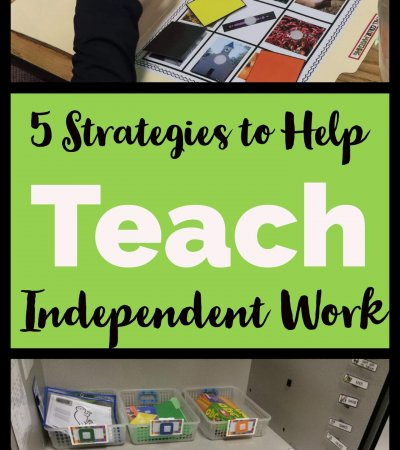 You've set up your independent work system and you've got great tasks and organization...so how do you assure that your students build independence? These 5 strategies are important in getting to the final goal!