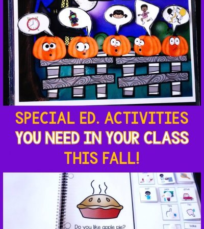 It's always so fun to pull out fall activities as the air gets cooler and the holidays get closer. These activities reflect all the fun of autumn in the special education classroom from pumpkins to changing leaves. But they also provide comprehensive instruction and tools for expanding your discrete trial training, language development, common core standard-based instruction, and literacy. Click to check out what is offered!