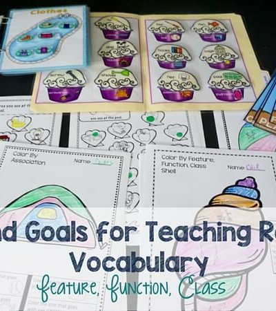 Ideas and Goals for Teaching Receptive Vocabulary