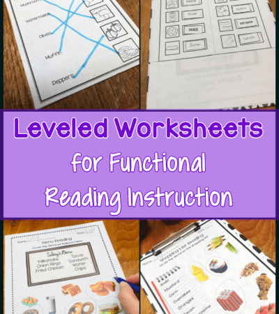 Leveled Worksheets for Functional Reading Instruction