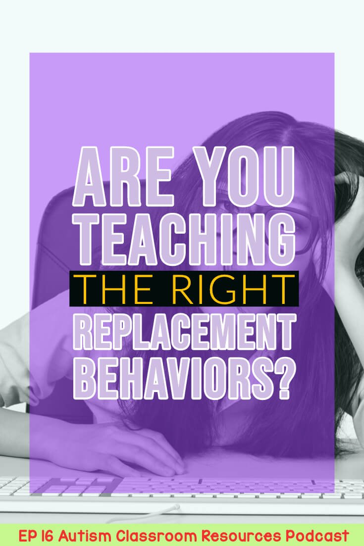 Are You Teaching the Right Replacement Behaviors? Autism Classroom Resources Podcast Episode 16 [picture of girl slumped at computer]