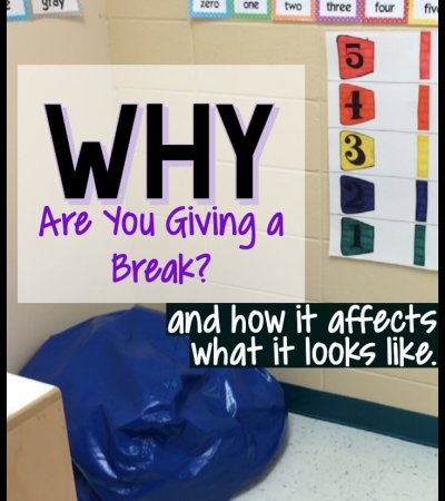 As special education teachers we sometimes think that students with autism automatically will need breaks in their day. And some will. But like everything else in autism and special ed., one size break doesn't fit all. Click through to learn how to tailor students' breaks to the function of the break itself. #behaviormanagement #pbis #autism #specialeducation