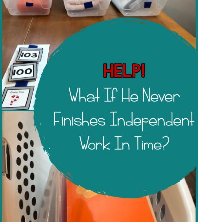 As a special educator, have you ever had a student who just can't seem to finish his independent work baskets in the time you give him? This post has tips for finding out why he isn't finishing and ways to address it so that he can. Help your students be more independent with this easy troubleshooting process.