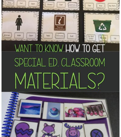 Special educators need all the help they can get with materials in the classroom. We've got 8 ways to help you solve that problem! #classroommaterials #specialeducation #specialeducationteacher #getstufffree