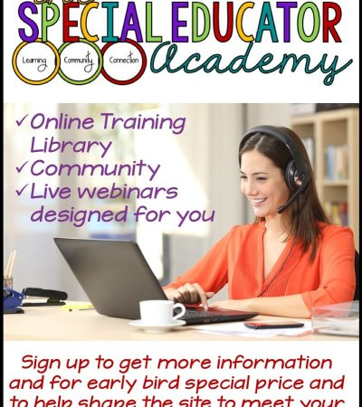 The Special Educator Academy is your one-stop site for training, problem solving, and community.