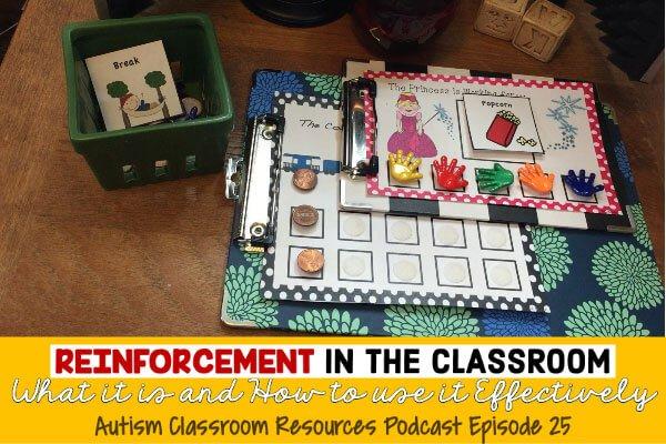 Podcast on Autism Reinforcement, Autism Classroom resources