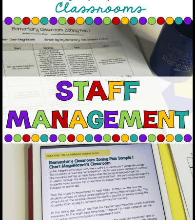 Managing staff in the special education classroom can be one of the hardest parts of the job! Here are all my tips on how to start the year out right with a strong staff zoning plan.