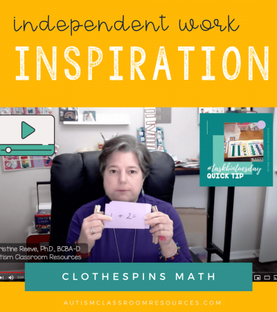 Independent Work Inspiration: Clothespin Task Math