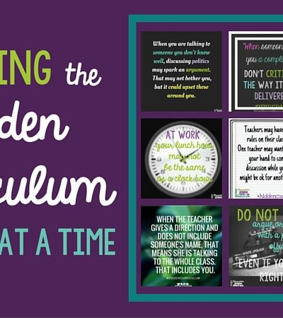 Teaching the Hidden Curriculum 1 Item at a Time