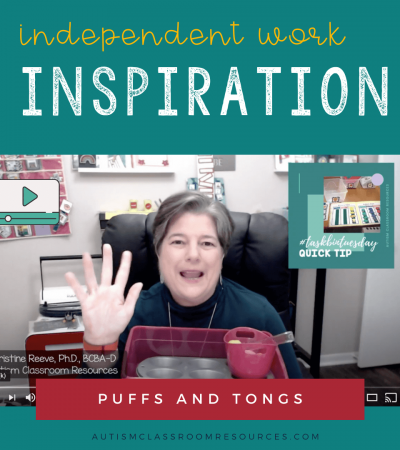 Independent Work Inspiration: Pom Poms and Tongs with Video Tutorial