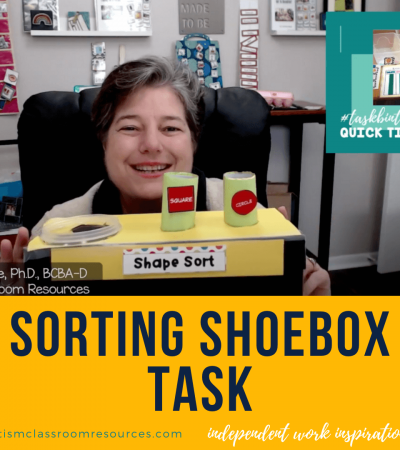 sorting shoebox tasks. independent work inspiration. autismclassroomresources