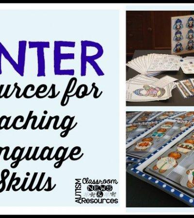 winter resources for teaching language skills